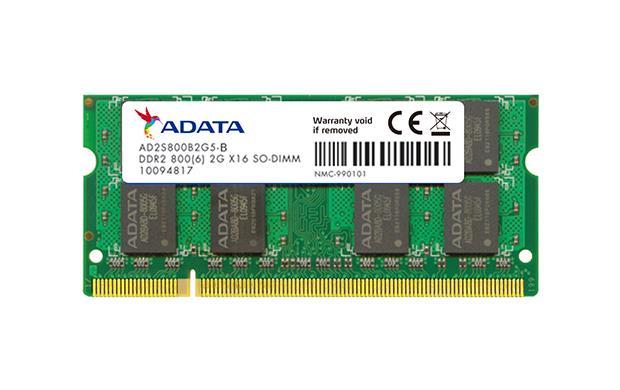 ADATA 2GB 800MHz DDR2 CL6 SODIMM 1.8V bulk - AD2S800B2G5-B