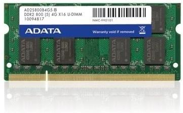 ADATA, 800Mhz, 2GB, SO-DIMM DDR2 ram - AD2S800B2G5-R