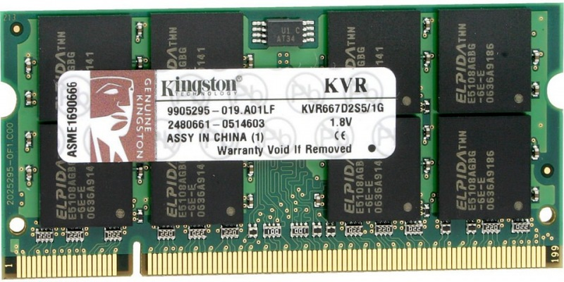 Kingston, 800Mhz, 2GB, SO-DIMM DDR2 ram - KVR800D2S6/2G