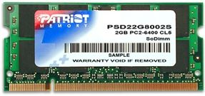Patriot, 800Mhz, 2GB, SO-DIMM DDR2 ram - PSD22G8002S