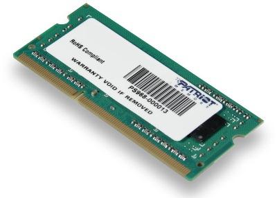 Patriot, 1600MHz, 4GB, SO-DIMM, DDR3 ram - PSD34G160081S