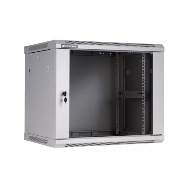 Linkbasic závesná skrine 19   9U 600x450mm - šedá (presklené dvere) - WCB09-645-BAB-C