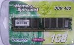 Obrázok produktu Transcend 1GB 400MHz DDR Non-ECC CL3 DIMM