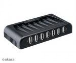 Obrázok produktu AKASA AK-HB-09BK 7-portový externý USB HUB,  čierny Connect 7+