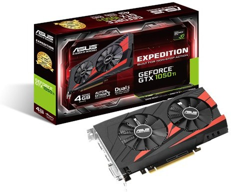 Asus EX-GTX1050TI-4G Expedition eSports gaming - 90YV0A52-M0NA00