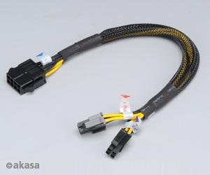 Redukce z 8pin (M) na 8pin (2x4pin) - 30 cm - AK-CB8-8-EXT
