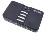 Obrázok produktu Sandberg USB externá zvuková karta Sound Box 7.1,  čierny