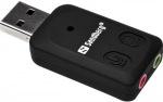 Obrázok produktu Sandberg externá zvuková karta,  USB > Sound Link,  čierna