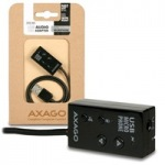 Obrázok produktu AXAGO,   ADA-MP,  Audio cable adaptér,  USB 2.0,  integrovaný mikrofón