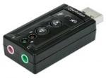 Obrázok produktu Manhattan redukcia,  zvuková karta,  USB 3D,  7.1 sound adapter,  jack in / out