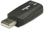 Obrázok produktu Manhattan, Hi-Speed USB 3-D sound adapter