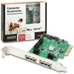 Obrázok produktu AXAGO PCIe 2-Lane řadič 4x int. / 2x ext. SATA 6G HD