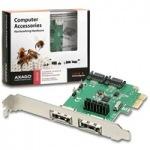 Obrázok produktu AXAGON,  PCES-SA4,  PCIe karta,  2x e-SATA /  2x interný SATA III 6G radič