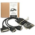 Obrázok produktu AXAGO PCIe adapter 2x sér. + 1x par. Fan-out + LP