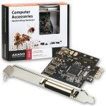 Obrázok produktu AXAGO PCEA-P1, 1x paralel port + LP, PCI-Express