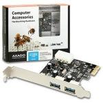 Obrázok produktu AXAGO PCI-Express adapter 2x USB3.0 Renesas + LP