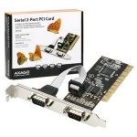 Obrázok produktu AXAGO PCIA-S2, 2x sériový port + LP, PCI