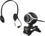 Obrázok produktu Trust Exis Chatpack, Set webkamera, 640x480, USB + stereo slúchadlá, mikrofón, čierna