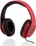 Obrázok produktu I-BOX D-13, drôtové, skladacie slúchadlá s mikrofónom, červené