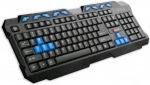 Obrázok produktu C-TECH GMK-102-B, drôtová multimediálna klávesnica, SK / CZ, USB, čierno-modrá