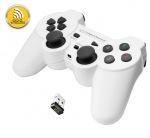 Obrázok produktu Esperanza EGG108W GLADIATOR bezdrôtový gamepad s vibráciami pre PC / PS3,  biely