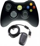 Obrázok produktu Microsoft XBOX360, bezdrôtový gamepad, PC /XBOX 360, 2.4GHz USB prijímač, čierny