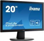 "Obrázok produktu iiyama E2083HSD-B1 19,5"", LED, 1600x900, 300 cd/m2, DVI, VGA, Repro"