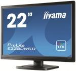 "Obrázok produktu iiyama E2280WSD 22"", LED, 1680×1050, 16:10 , VGA, DVI-D, Repro"