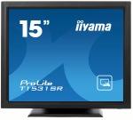 "Obrázok produktu 15"" LCD iiyama T1531SR-B3 -5 žilový, 8ms, 350cd, VGA, DVI, USB, RS232C, repro, IP54,"
