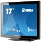"Obrázok produktu iiyama T1732MSC- Multitouch, 17"" TN, IP54, USB, čierny"