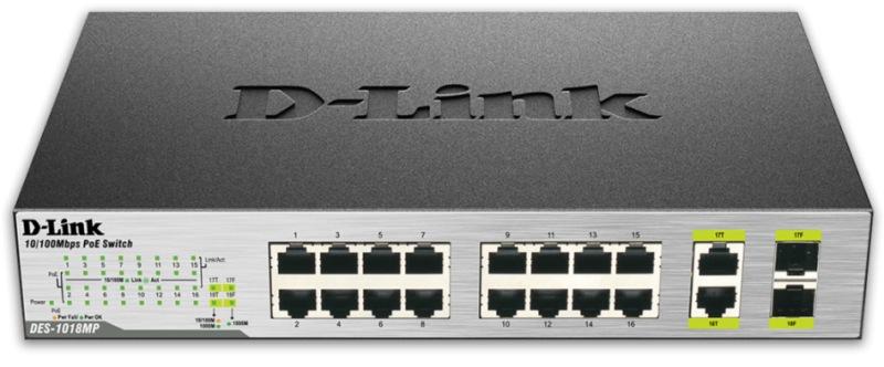D-Link DES-1018MP 16x100 - DES-1018MP