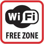 Obrázok produktu Výstražná samolepka SK - WiFi Free Zone