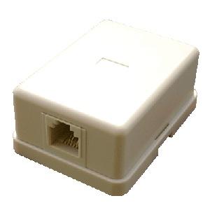 Telefónna zásuvka nad omietku RJ11 -