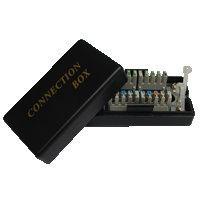 Spojovací BOX UTP Cat5e (2* zárez. pole) -