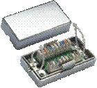 Spojovací BOX STP Cat5e (2* zárez. pole) Silver -