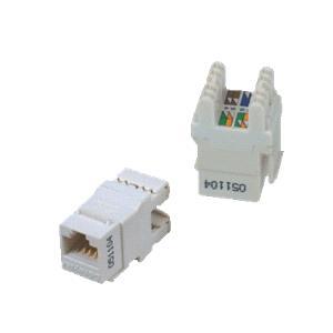 DATACOM UTP Keystone Cat6 bílý Dual Slim zadní zářez -
