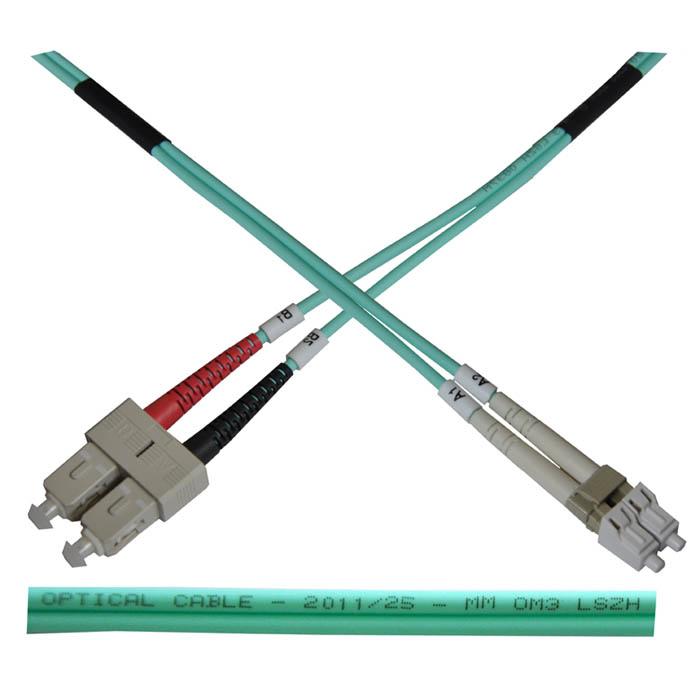 Optický patch kabel duplex LC-SC 50  -