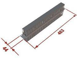 """Vyvazovací panel 1U 19"""" oboustranná plast. lišta - RAB-VP-X03-A1"""