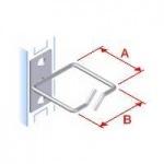 Obrázok produktu Vyvazovací háček 40x40 D1 kov levý fix, čelní gate