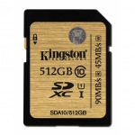 Obrázok produktu 512 GB . SDXC karta Kingston . Class 10 UHS-I Ultimate ( r90MB / s,  w45MB / s )