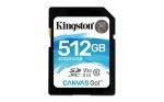 Obrázok produktu 512 GB . SDHC karta Kingston . Class 10 UHS-I U3 V30 ( r90MB / s,  w45MB / s )