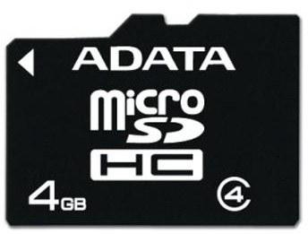 ADATA microSDHC karta - AUSDH4GCL4-R