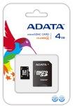 Obrázok produktu ADATA micro SDHC karta 4GB Class 4 + adaptér SDHC
