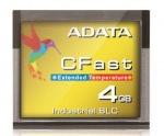 Obrázok produktu ADATA CFast karta Industrial,  SLC,  4GB , -40 až 85°C (165MB / s  /  170MB / s), bulk