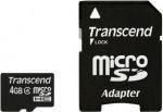 Obrázok produktu Transcend Micro SDHC karta 4GB Class 4 + Adaptér