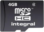 Obrázok produktu NTEGRAL MicroSDHC Class4, pamäťová karta, 4GB