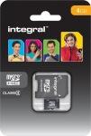 Obrázok produktu INTEGRAL MicroSDHC, Class 4, pamäťová karta 4GB + SDHC adaptér