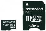 Obrázok produktu Transcend microSDHC karta, 4GB, adaptér SD