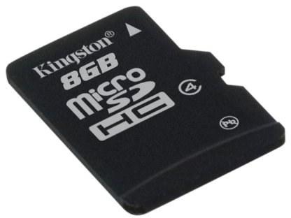 Kingston micro SDHC karta - SDC4/8GBSP