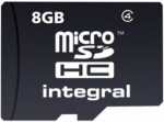 Obrázok produktu INTEGRAL MicroSDHC, Class 4, pamäťová karta, 8GB